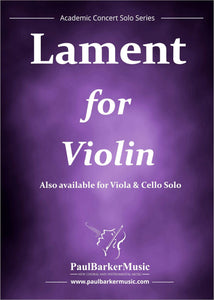 Lament (Violin & Piano)-Strings-Paul Barker Music