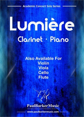Lumiere (Clarinet & Piano)-Woodwind-Paul Barker Music
