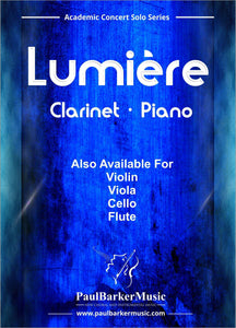 Lumiere (Clarinet & Piano) - Paul Barker Music