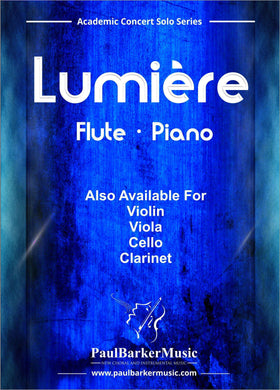 Lumiere (Flute & Piano)-Woodwind-Paul Barker Music