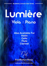 Load image into Gallery viewer, Lumiere (Viola & Piano)-Strings-Paul Barker Music