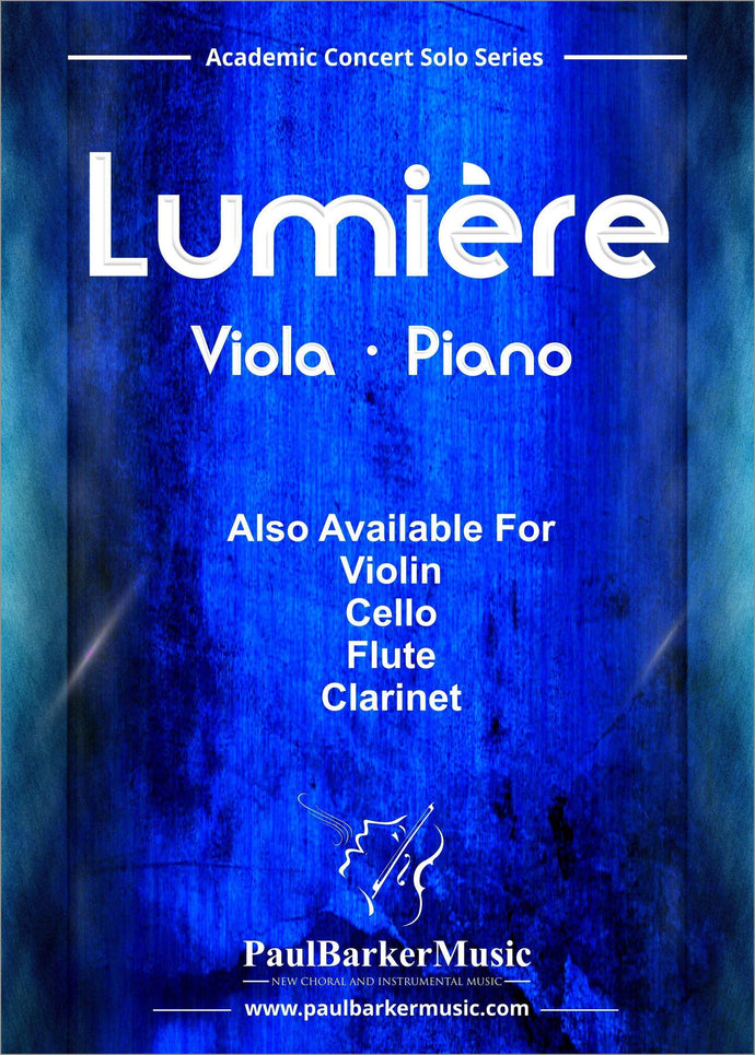 Lumiere (Viola & Piano)-Strings-Paul Barker Music