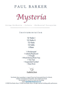 Mysteria Orchestral Paul Barker Music