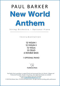 New World Anthem (String Orchestra) - Paul Barker Music