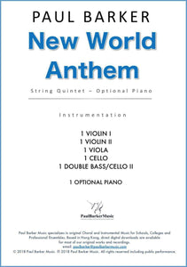 New World Anthem (String Quintet) - Paul Barker Music