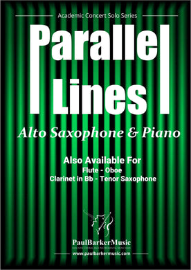 Parallel Lines (Alto Saxophone & Piano)-Woodwind-Paul Barker Music