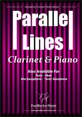 Parallel Lines (Clarinet & Piano)-Woodwind-Paul Barker Music
