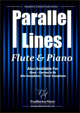 Parallel Lines (Flute & Piano)-Woodwind-Paul Barker Music