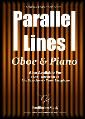 Parallel Lines (Oboe & Piano)-Woodwind-Paul Barker Music