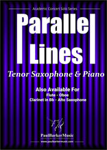 Load image into Gallery viewer, Parallel Lines (Tenor Saxophone & Piano) - Paul Barker Music