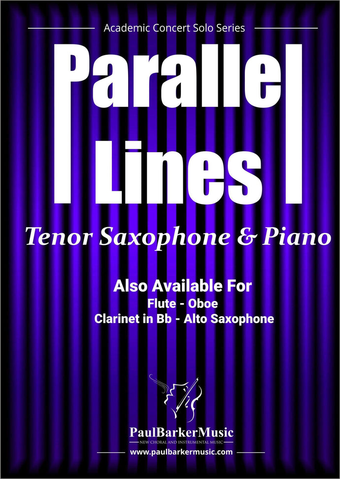 Parallel Lines (Tenor Saxophone & Piano)-Woodwind-Paul Barker Music