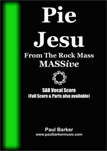 Pie Jesu Choral Paul Barker Music SAB Vocal Score Only