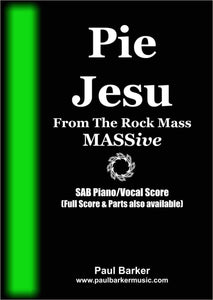 Pie Jesu Choral Paul Barker Music SAB Choir Piano/Vocal Score