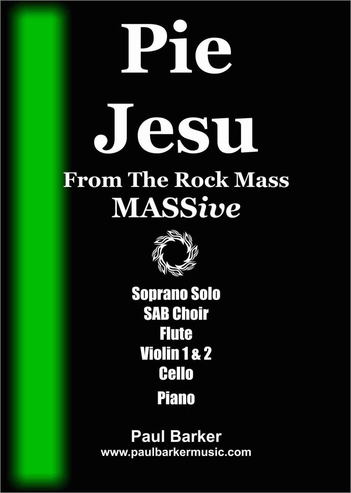 Pie Jesu Choral Paul Barker Music Full Conductor Score (SAB Choir & Chamber Ensemble)