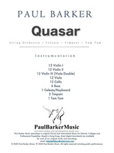 Load image into Gallery viewer, Quasar Orchestral Paul Barker Music
