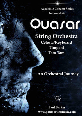 Quasar Orchestral Paul Barker Music Score