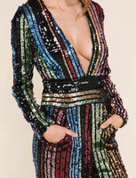New Years Eve or Christmas party sequin jumpsuit