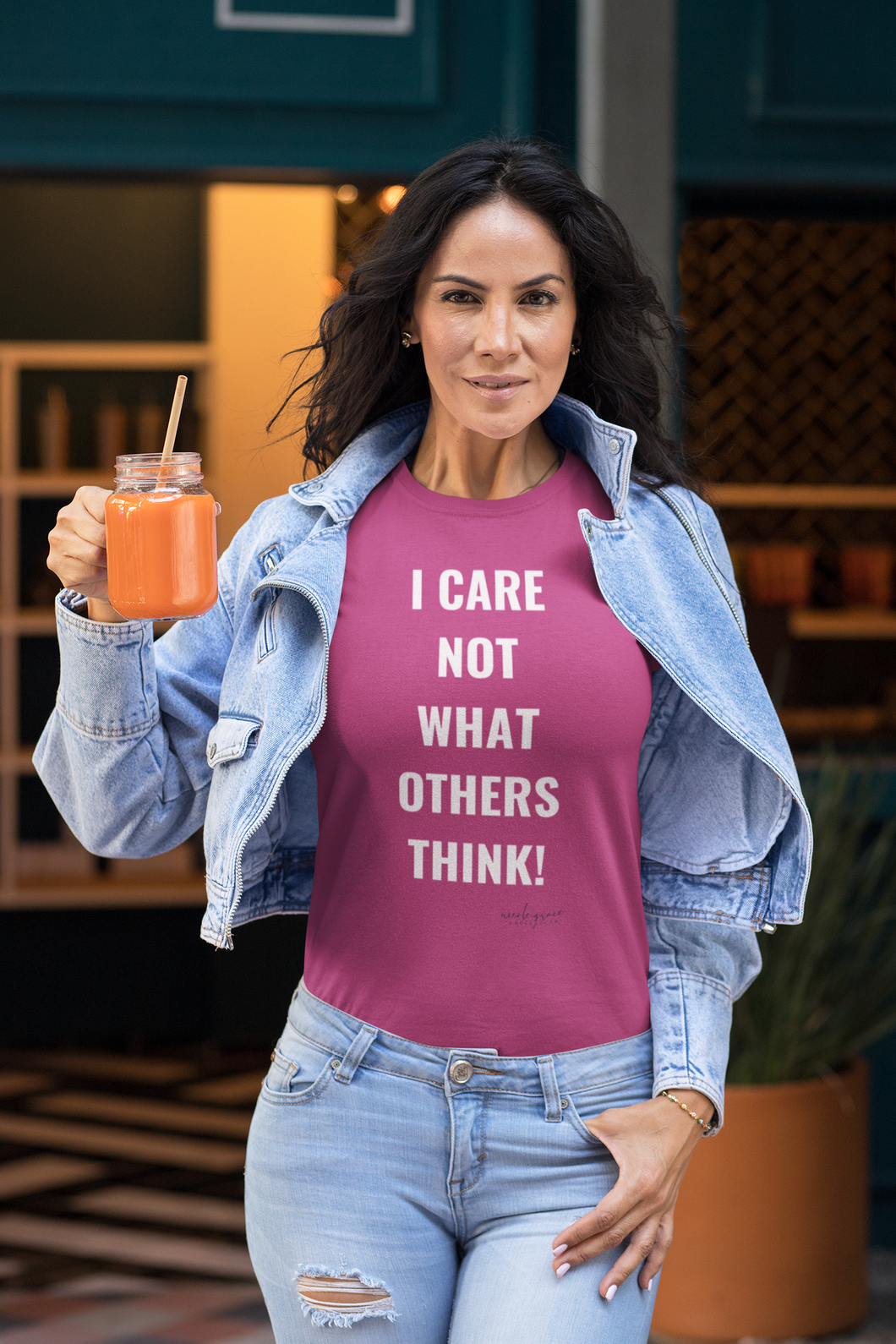 I CARE NOT WHAT OTHERS THINK TEE Gray