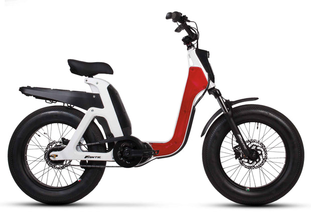 issimo Fun ebike white with red panel