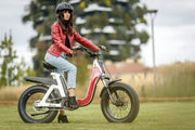 ebike issimo white with red style