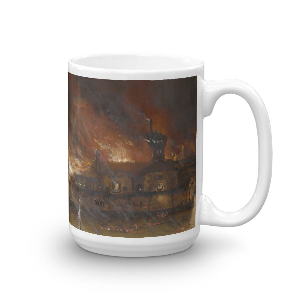 Burning Mar-a-Lago Mug
