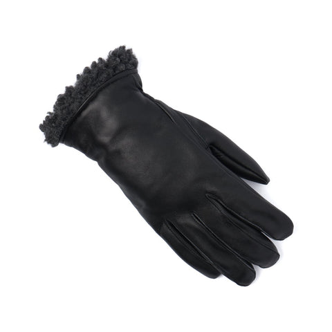 Leather Glove with Berber Cuff