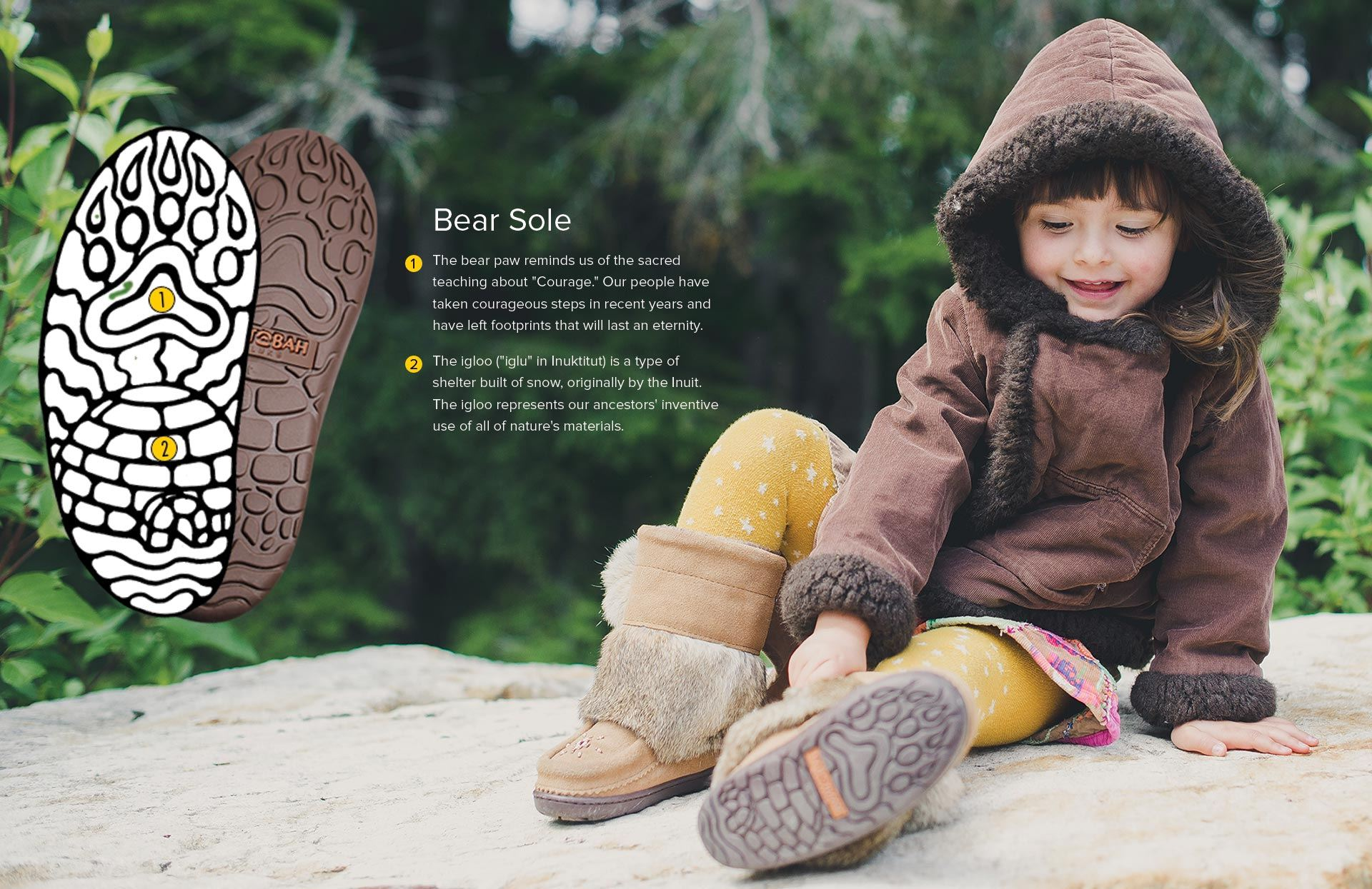 Kids Mukluks Bear Paw Sole