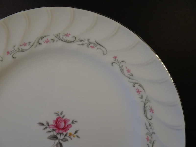 Fine China Royal Swirl 10.25in Round Dinner Plate
