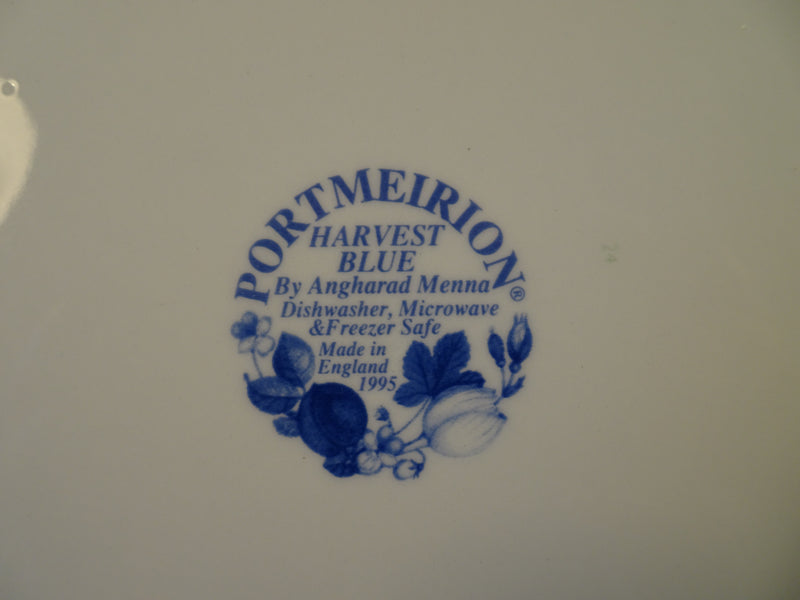 PORTMEIRION Harvest Blue 8.5in Rimmed Salad Plate