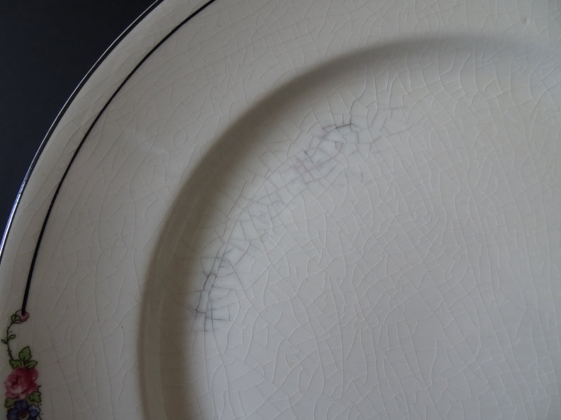 Crooksville China Co  9.60in Rimmed Dinner Plate