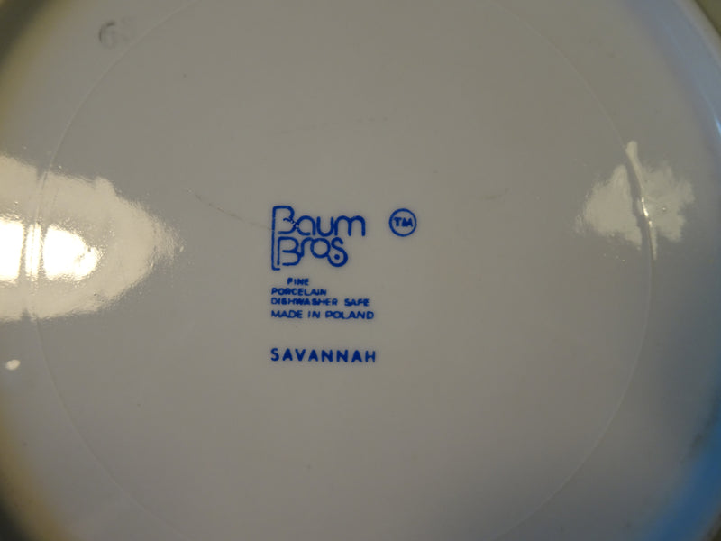 Baum Brothers Savannah 10.10in Rimmed Dinner Plate