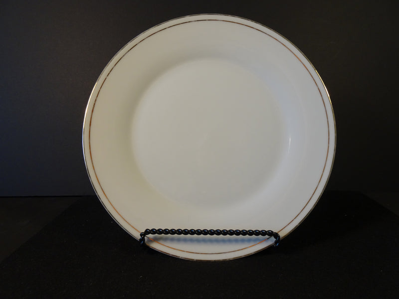 Linens N Things Gold Banded 10.5in Rimmed Dinner Plate