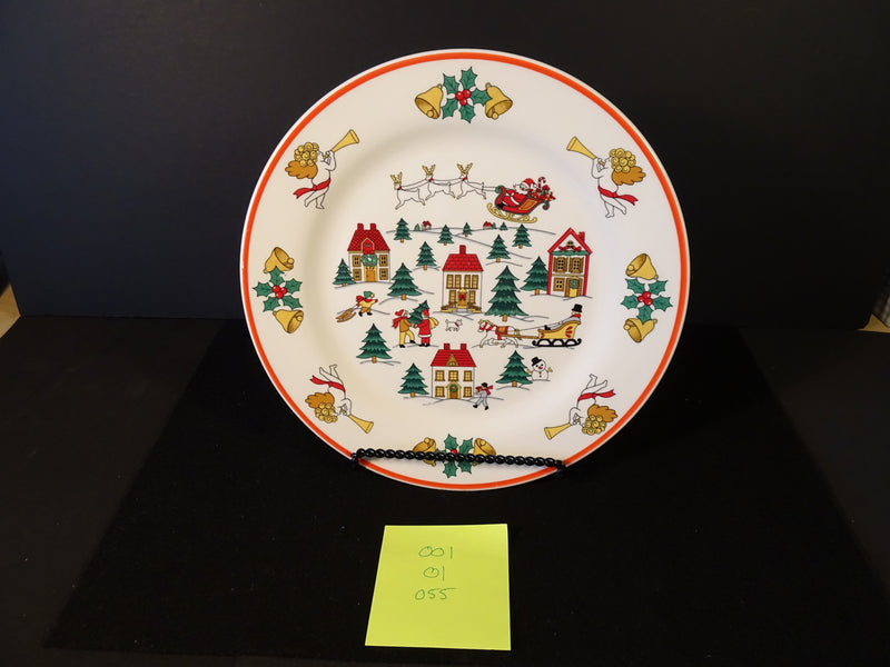 Jamestown China The Joy of Christmas 10.45in Rimmed Dinner Plate