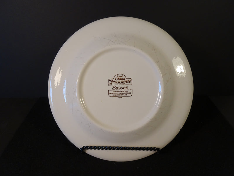 Royal China Jeannette Sussex 10in Rimmed Dinner Plate