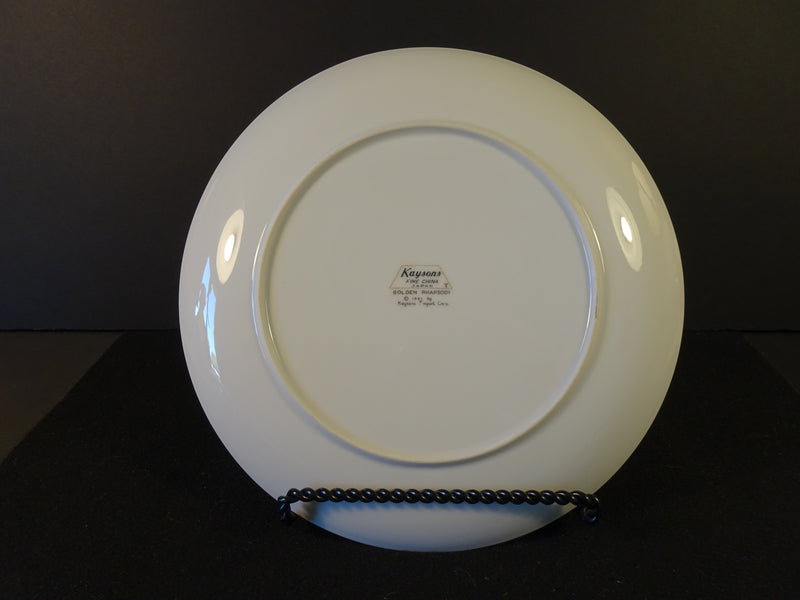 Kayson Golden Rhapsody 9.2in Coupe Dinner Plate