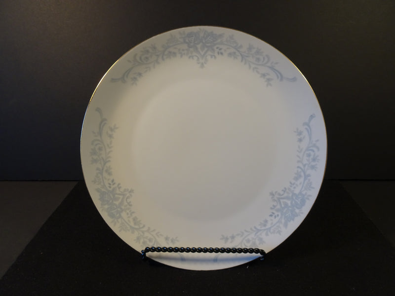 Three Section Blue Ornate Pattern Around Trim 10.50in Coupe Dinner Plate