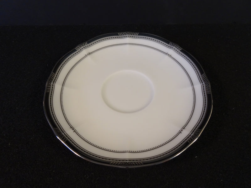 Noritake Ivory China Gilded Platinum 6in Saucer