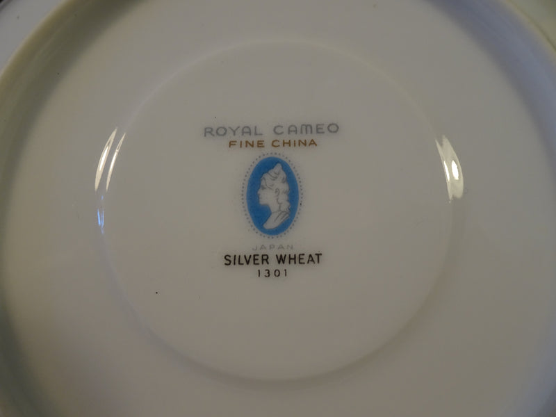 Royal Cameo Fine China Silver Wheat 5.90in Saucer