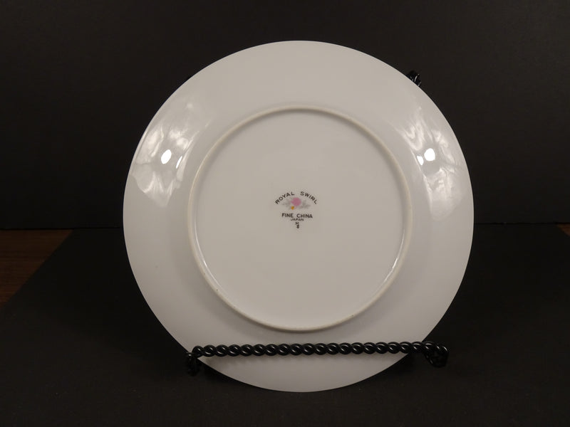 Fine China Royal Swirl 7.5in Round Salad Plate