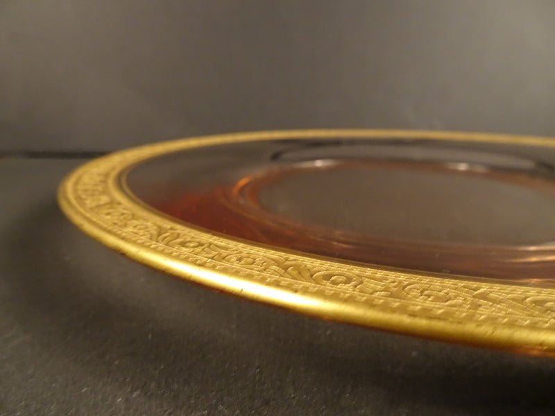 Clear with Gold Trim, 8.5in Round Salad Plate