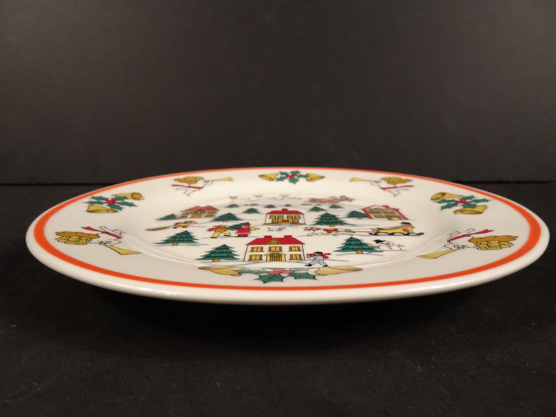 Jamestown China The Joy of Christmas 7.45in Rimmed Salad Plate