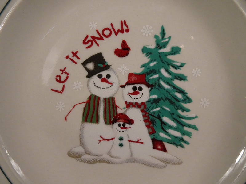 Atico International USA Let it Snow! 6.50in Rimmed Salad Plate