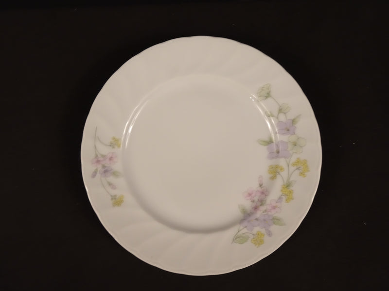Kopin Pastel Bouquet 7.8in Rimmed Salad Plate