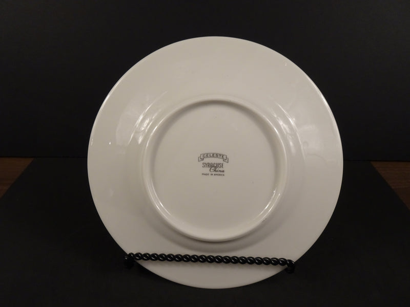 Syracuse China Celeste 8in Rimmed Salad Plate