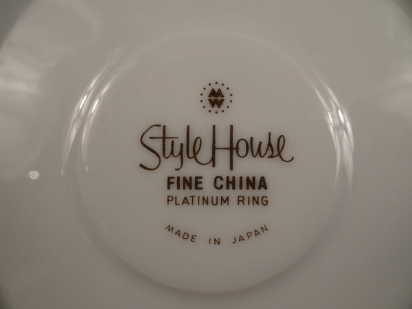 Style House Platinum Ring 6in Coupe Saucer