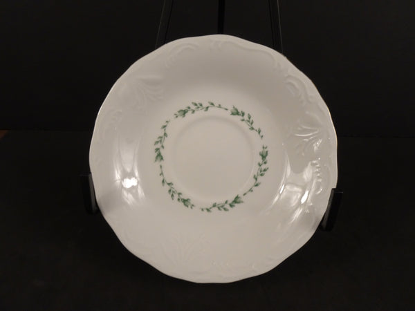 Gibson Housewares  5.8in Coupe Saucer with Center Floral Garland