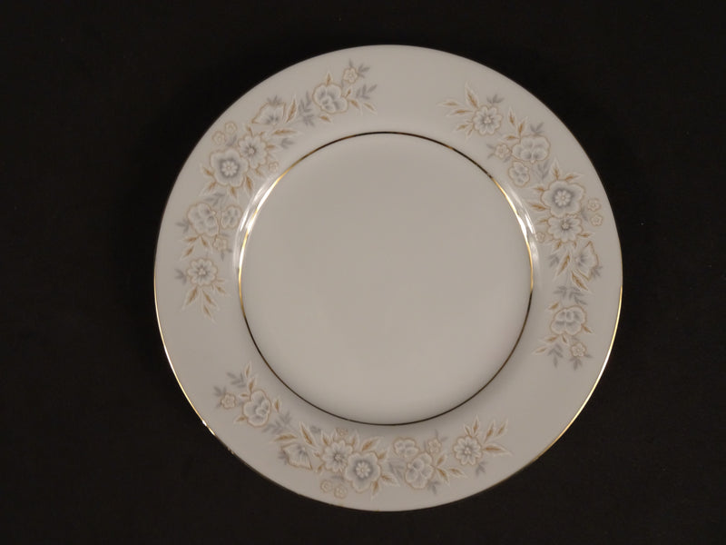 Fine China Petite Floral 6.35in Rimmed Bread and Butter Plate