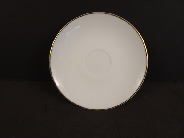 White  with Single Gold Trim Line 4.25in Demitasse Saucer