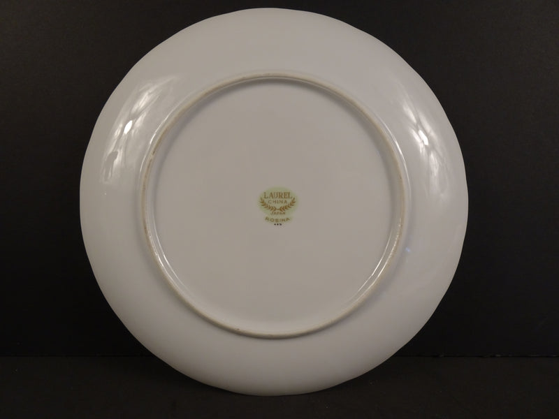 Laural China Rosina 9.25in Coupe Snack Plate