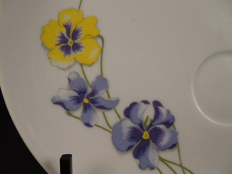 Enesco Spring Floral 8.25in Coupe Snack Plate